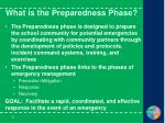 what is the preparedness phase