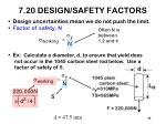 7 20 design safety factors