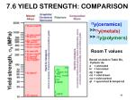 7 6 yield strength comparison