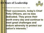 111 years of leadership5