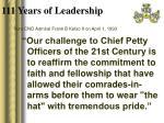 111 years of leadership6