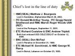 chief s lost in the line of duty