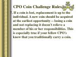 cpo coin challenge rules33