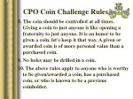 cpo coin challenge rules34