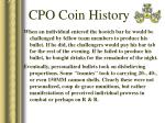 cpo coin history27