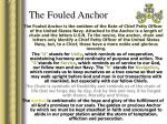 the fouled anchor