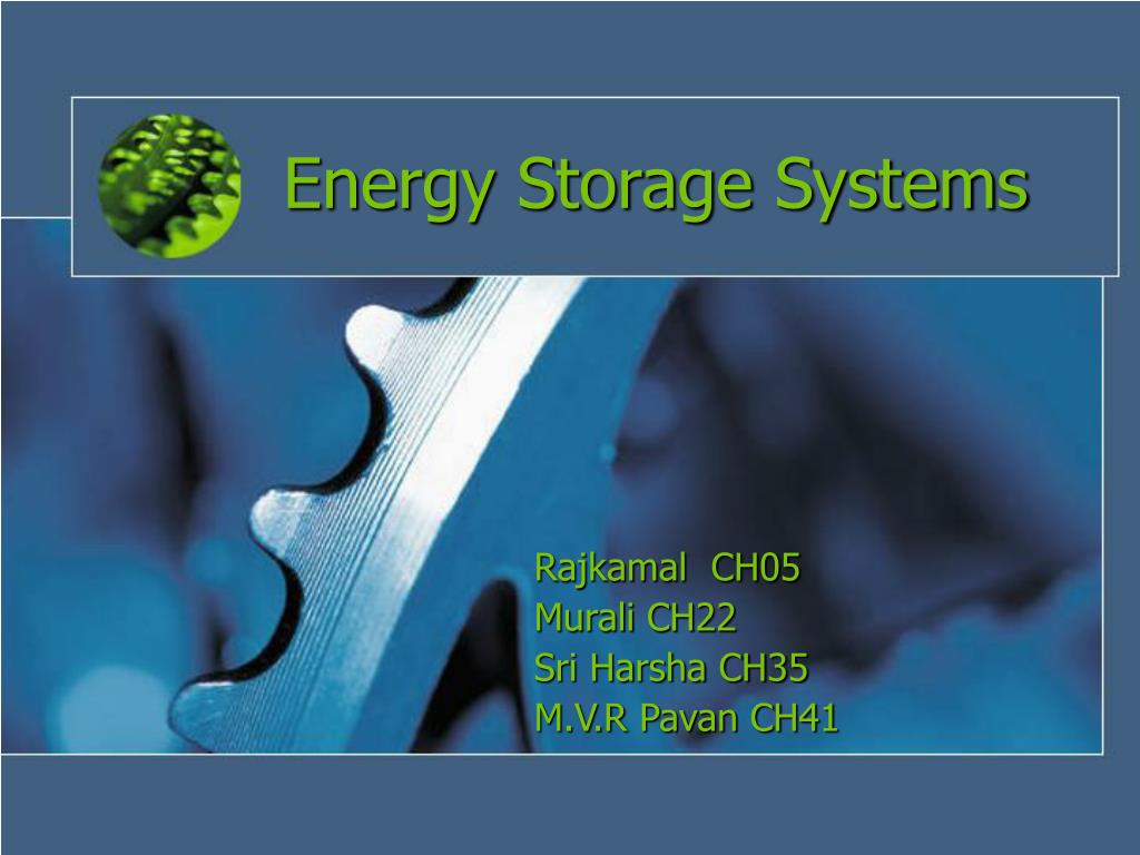 energy storage systems l.