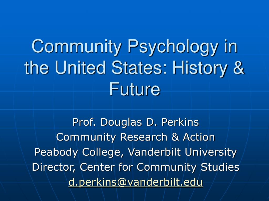 community psychology in the united states history future l.