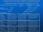 comprehensive ecological model for analyzing power dynamics across 4 domains of capital 3 levels