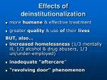 effects of deinstitutionalization