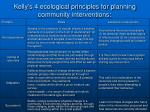 kelly s 4 ecological principles for planning community interventions