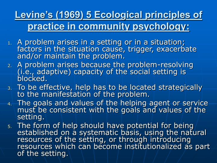 principles of community psychology pdf
