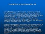 limitations of psychometrics 2