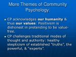 more themes of community psychology