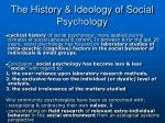 the history ideology of social psychology