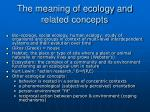 the meaning of ecology and related concepts