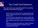 your credit card statement
