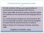 communicative grammar tasks