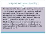 integrative grammar teaching