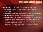 inherent safety design