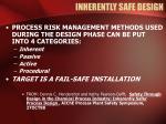 inherently safe design