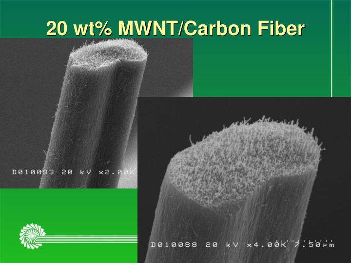 20 wt% MWNT/Carbon Fiber