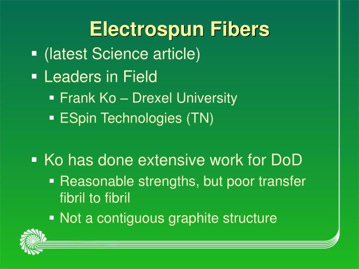 Electrospun Fibers
