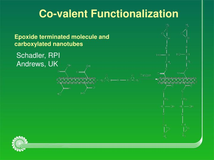 Co-valent Functionalization