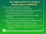 two approaches for surface modification of mwnts