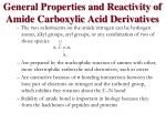 general properties and reactivity of amide carboxylic acid derivatives