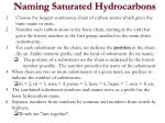 naming saturated hydrocarbons6
