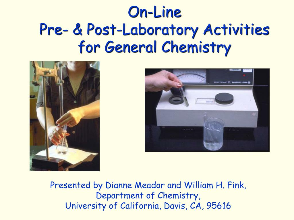 on line pre post laboratory activities for general chemistry l.