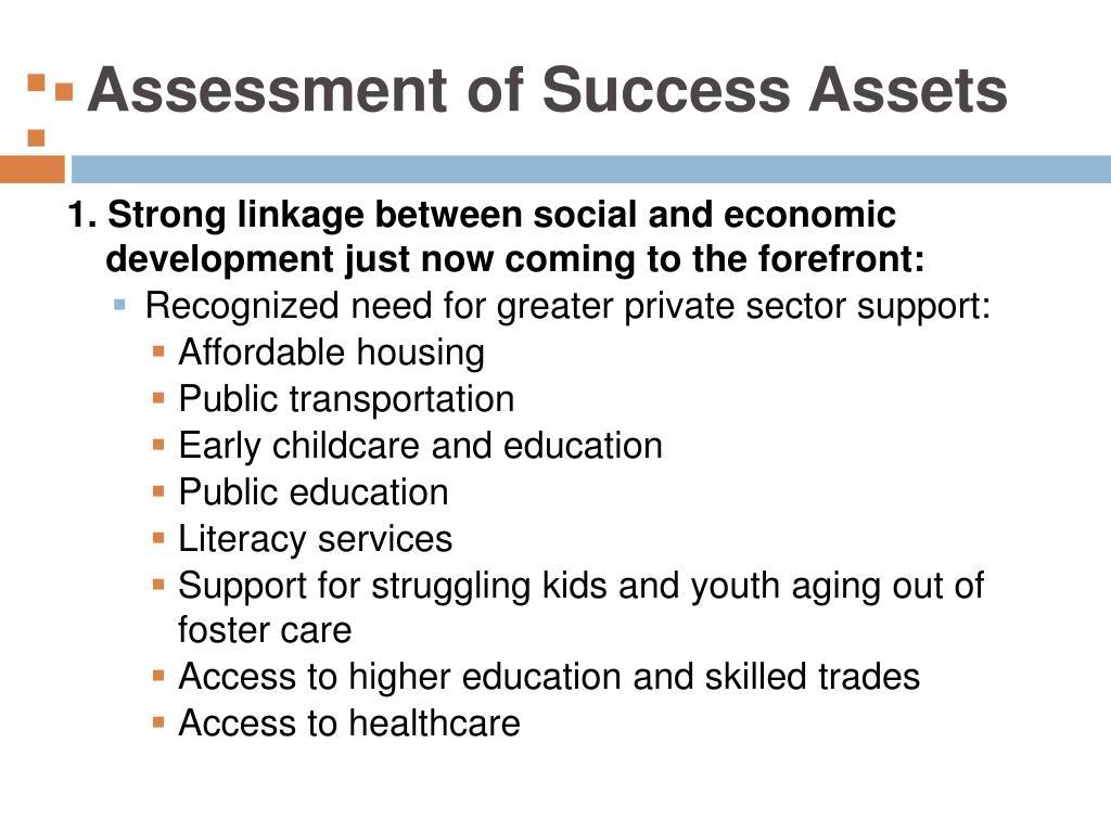 Assessment of Success Assets
