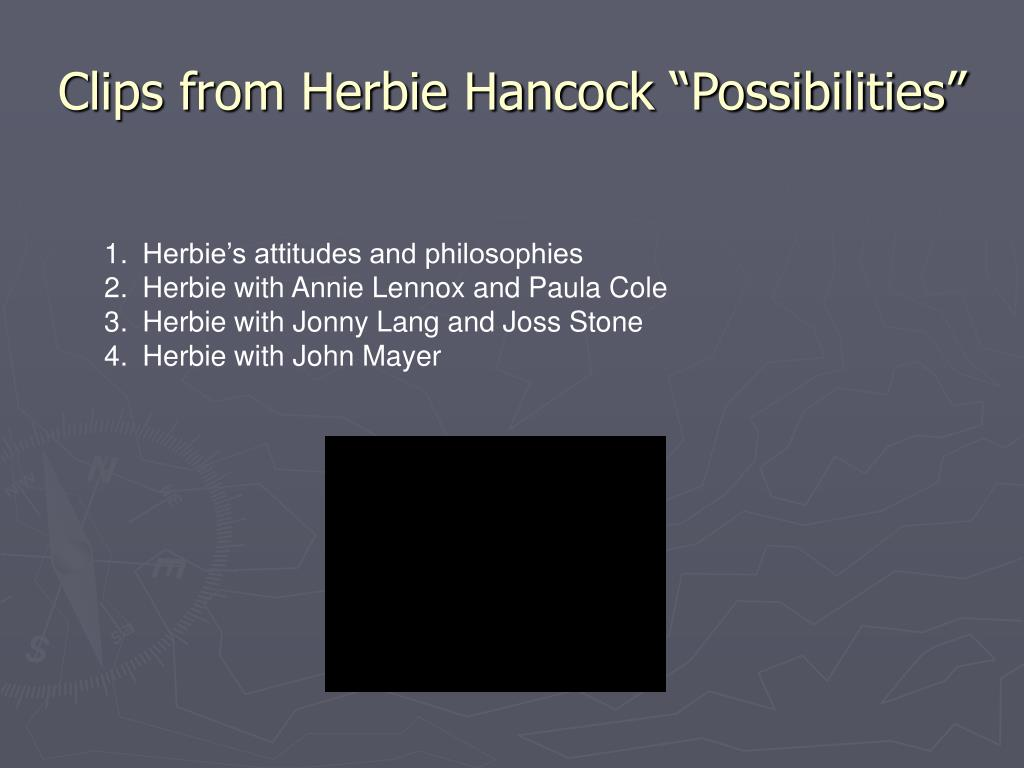 """Clips from Herbie Hancock """"Possibilities"""""""