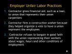 employer unfair labor practices