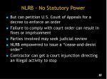nlrb no statutory power