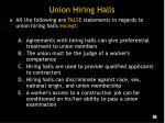 union hiring halls
