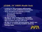 atsdr nc dhhs health study