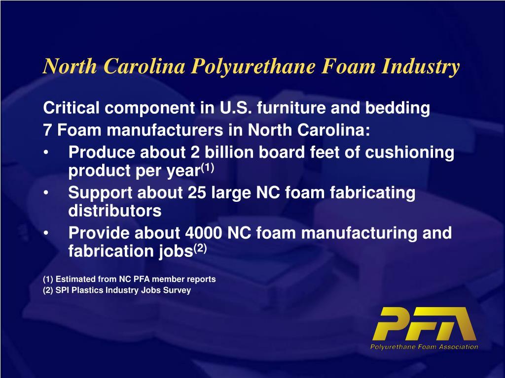north carolina polyurethane foam industry l.