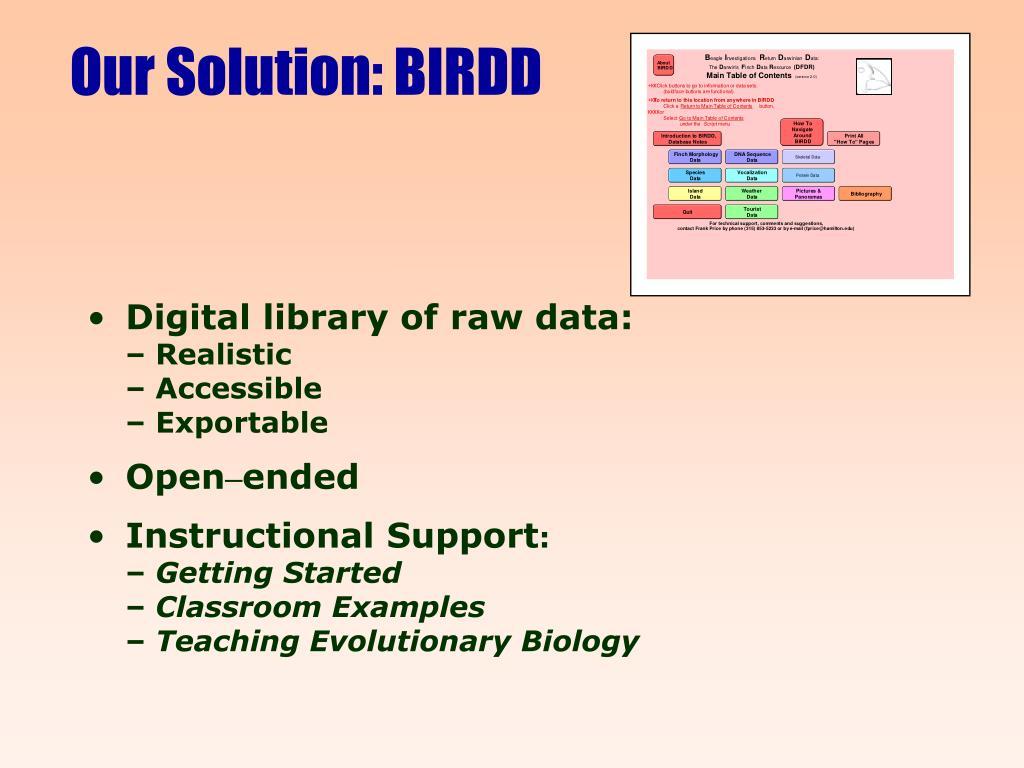 Our Solution: BIRDD