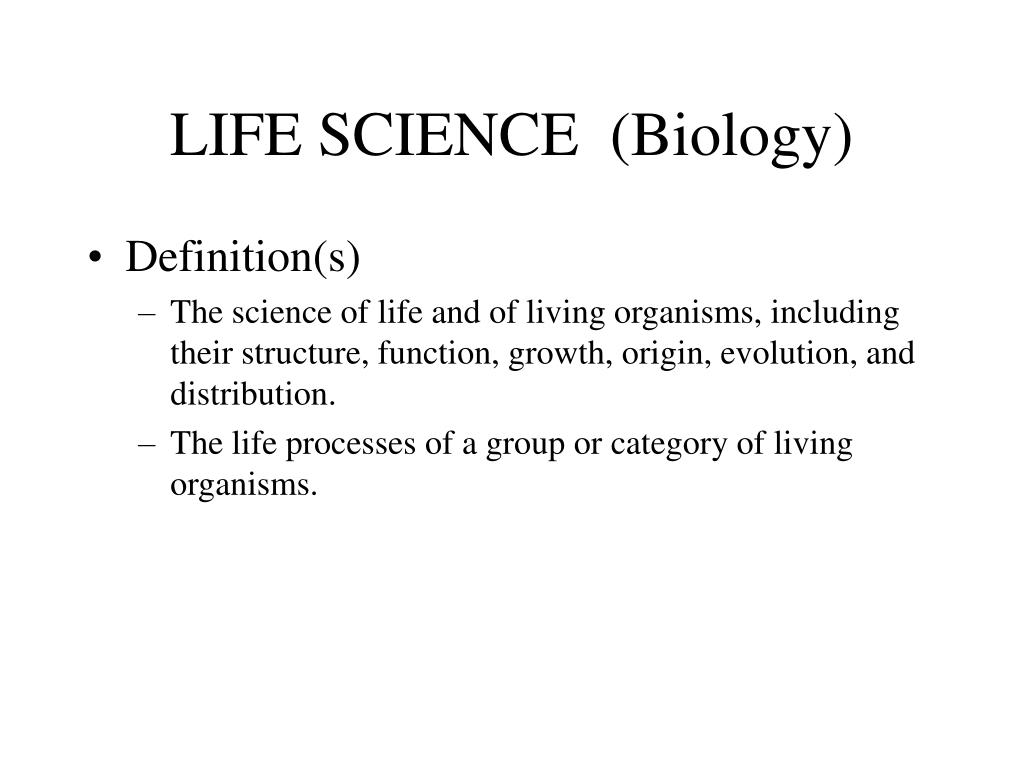 LIFE SCIENCE  (Biology)
