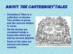 about the canterbury tales