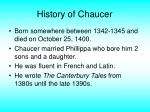 history of chaucer