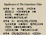 significance of the canterbury tales