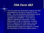 fda form 483
