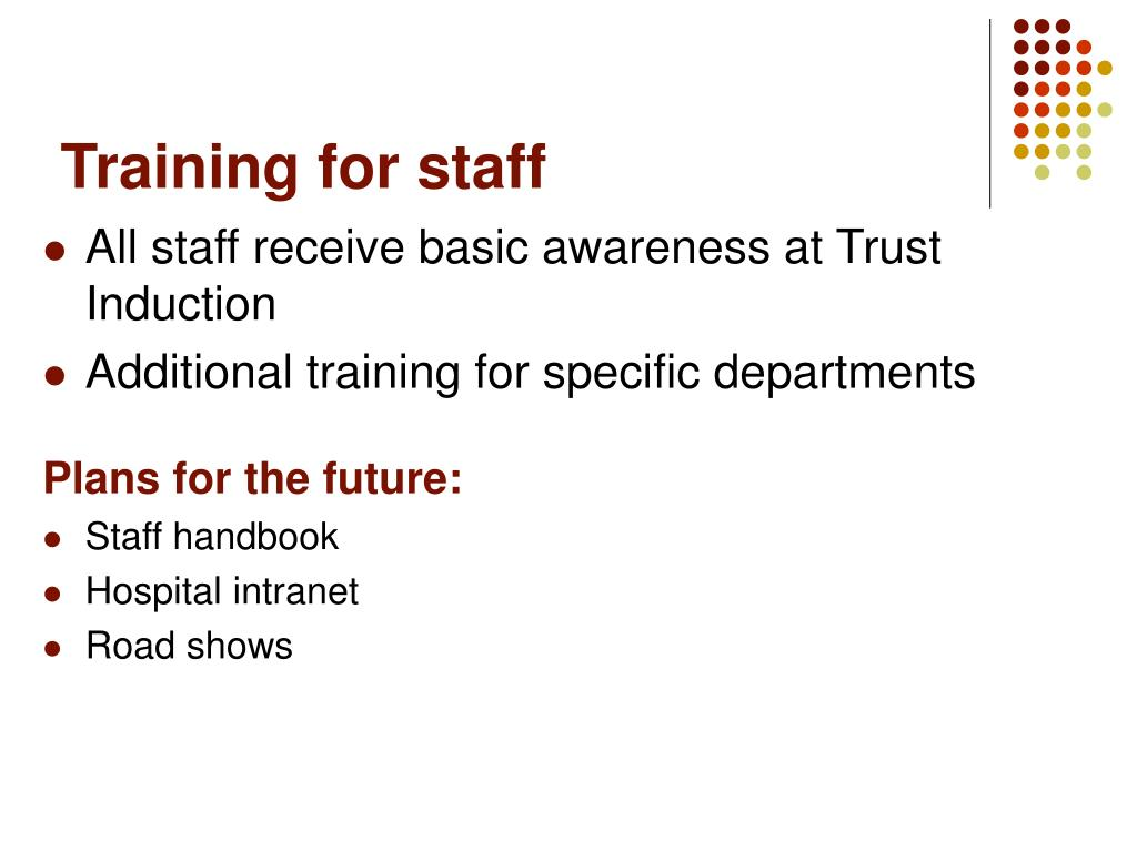 Training for staff