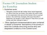 former ou journalism student joe eszterhas10
