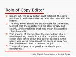 role of copy editor