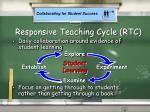 responsive teaching cycle rtc
