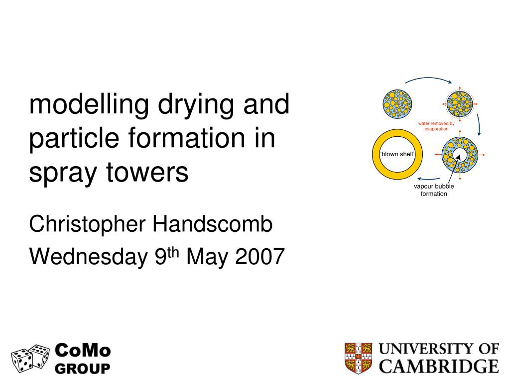 modelling drying and particle formation in spray towers l.